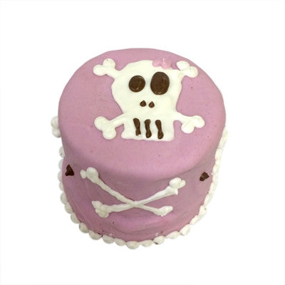 """Baby"" Toy Pink Skull Birthday Cake"