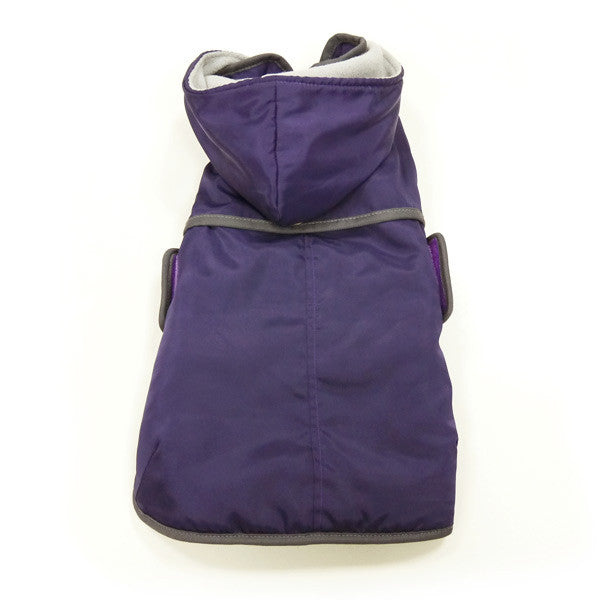 Classic Trench with Detachable Hoodie - Purple