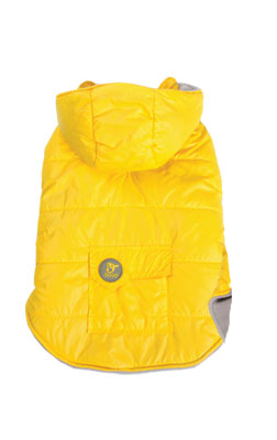 Dashing Dog Parka with Detachable Hoodie - Yellow