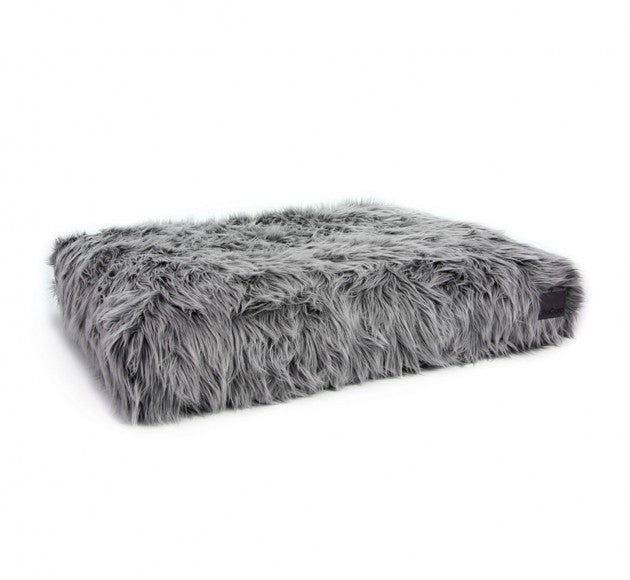 Capello Faux Fur Cushion - Grey/Black