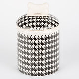 Houndstooth - Jar - Black & White