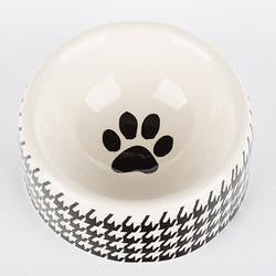 Houndstooth - Round Dish - Black & White