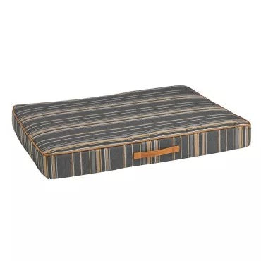 Outdoor - Flat Bed - Cabana Stripe (Grey)