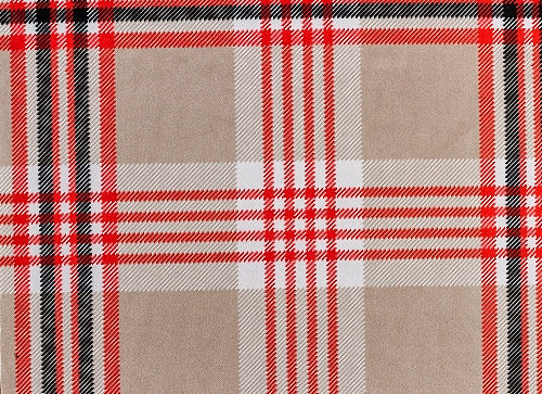 Microvelvet - TURNBERRY PLAID (Red / Brown)