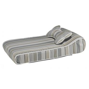 Outdoor - Resort Lounger - Cabana Stripe (Grey)