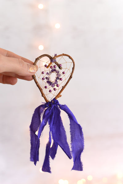 Tiny Amethyst Heart