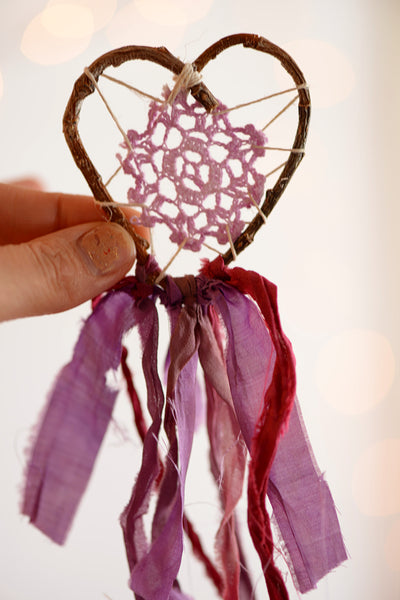 Purple Doily Heart