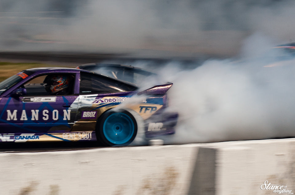 First Drift jam round for Julien Croteau; brings back  '' Full linked track '' trophy.