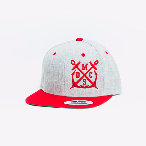 Team Official Grey Red Snapback