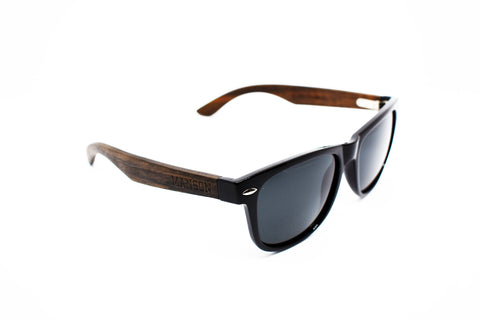 Black Obsidian Polarized Bamboo Sunglasses