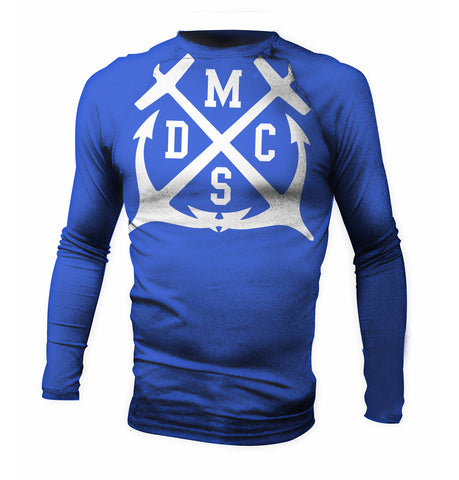 Team Official Blue Anchor Jiu Jitsu MMA Surf Rash Guard