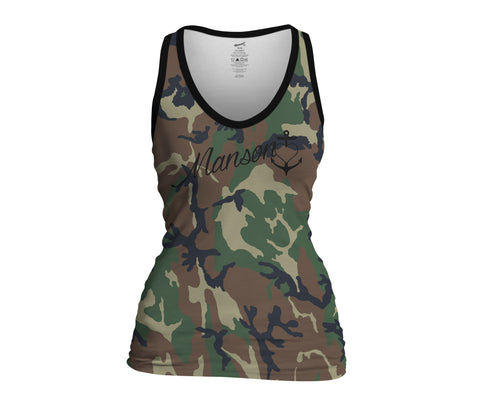 Camouflage Ladies Sublimate Tank Top