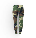 Camouflage Ladies No See Through Squat Proof Leggings