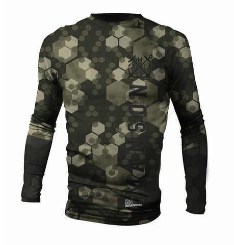 Digital Camo Sublimate Long Sleeve Jiu Jitsu Rash Guard