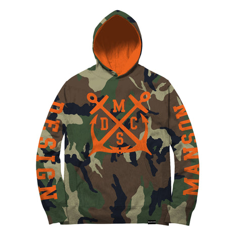 Team Official Hunter Camouflage Green Orange Hoodie