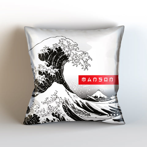 Waves of Kanagawa Sublimate Cushion