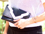 Black and White Clutch or Hip Bag