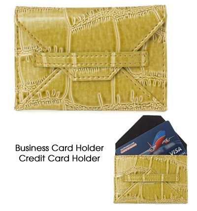 Chartruse Business Card Holder