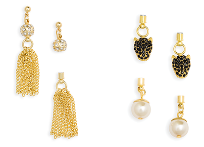 Gold Interchangeable Earrings