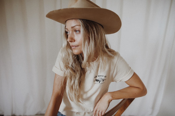 girl with cowboy hat on