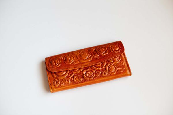Ramblin' Rose Leather Wallet