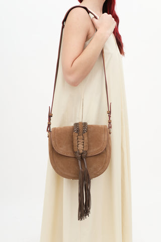 Altuzarra 'Ghianda' Tasseled Suede Shoulder Bag
