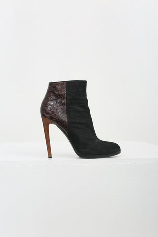 Suede Ankle Boot Pump