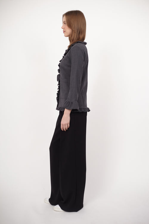 Marni Wool Ruffle Jacket