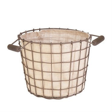 Basket, Woven Wire Rustic