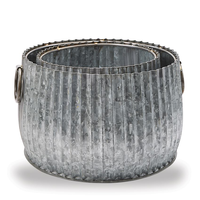Corregated Tin Pot Set - America's Gardens