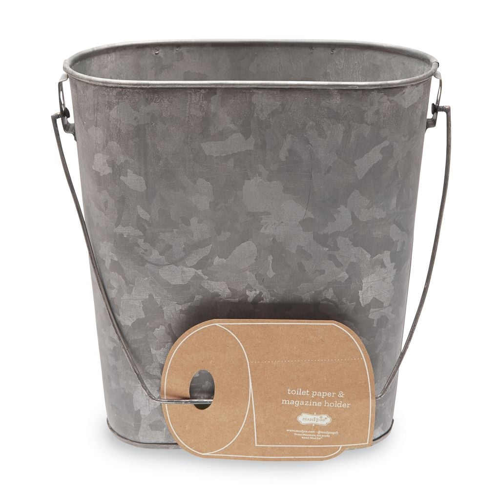 Tin Bucket Planter w/Towel Holder - America's Gardens