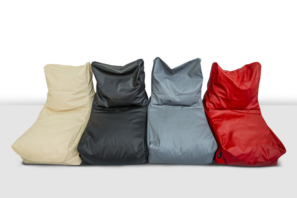 Konfo Living -Berlin Bean Bag Chair - Bulls Eye Red, Space Black, Anchor Gray, Antique White