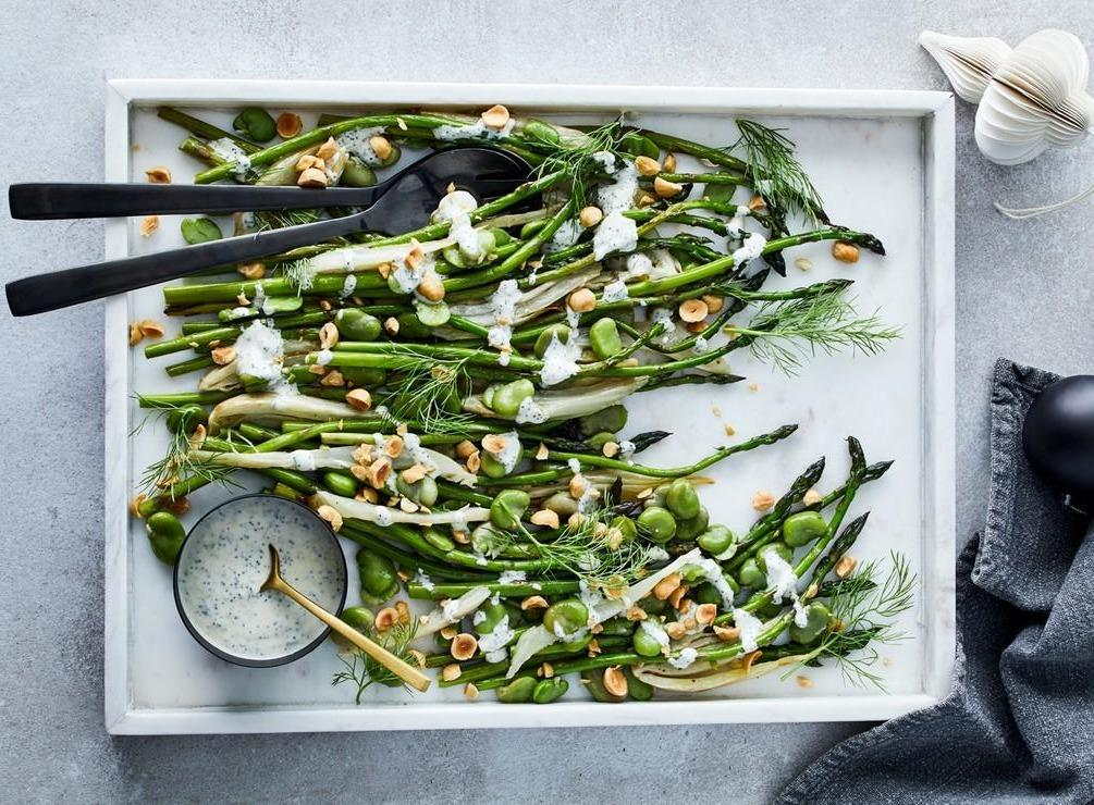 Recipe Box:  Asparagus, Roasted Fennel and Broad Bean Salad