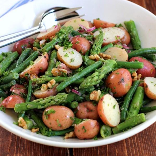 Recipe Box: POTATO SALAD WITH GREEN BEANS AND ASPARAGUS