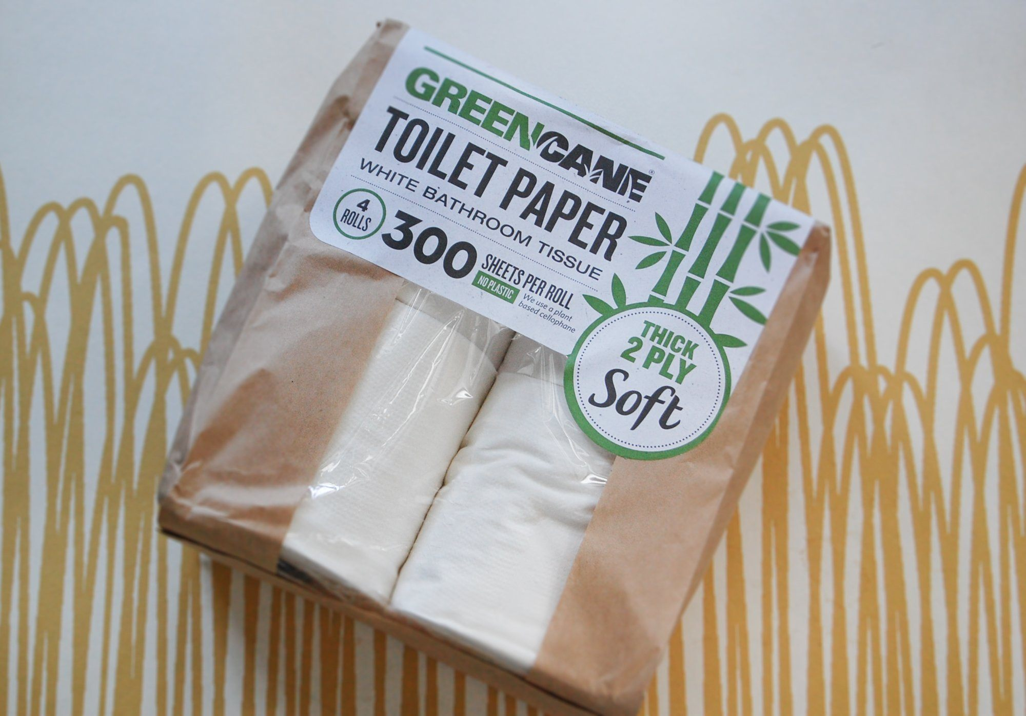 Toilet Paper, Green Cane (pack of 4)