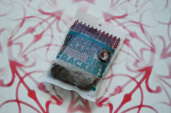 Brown Rice Crackers, Black Sesame 65g