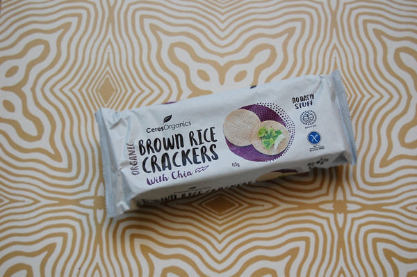 Brown Rice Crackers, Chia (Ceres) - 115g