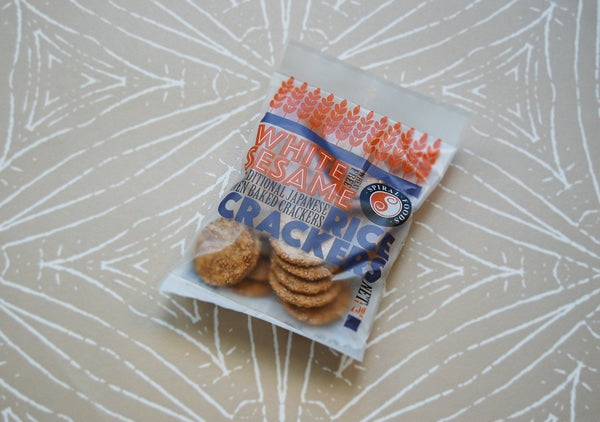 Brown Rice Crackers, White Sesame 65g
