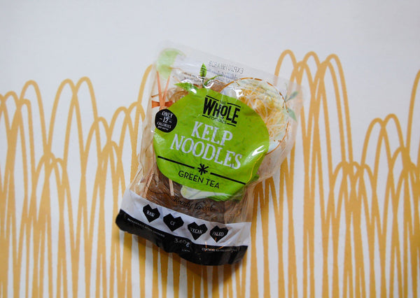 Kelp Noodles with Green Tea (The Whole Foodies)