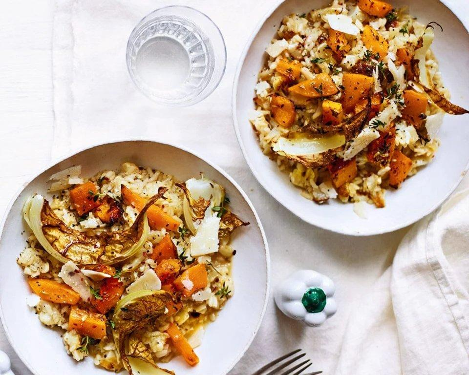 Recipe Box: Oven-roasted spiced squash and cauliflower risotto