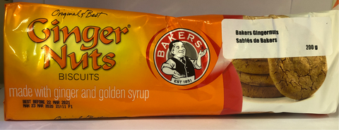 Bakers Ginger Nuts Biscuits 200 gms