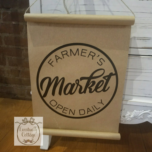 Farmer's Market Paper Scroll