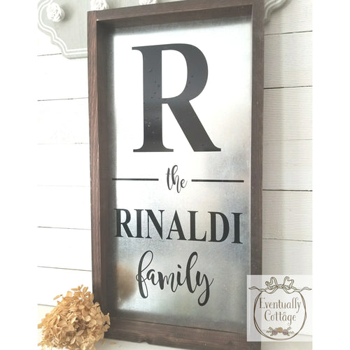 Handpainted Stainless Steel Family Name Sign