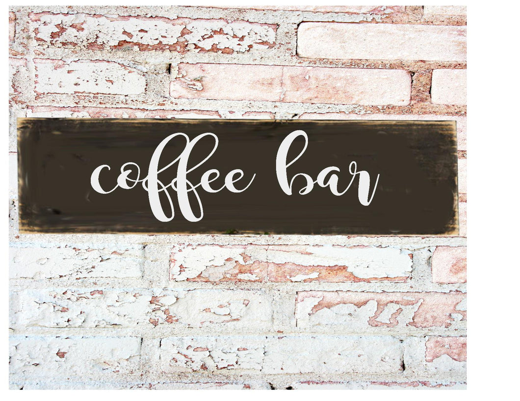 Wood Sign - Coffee Bar