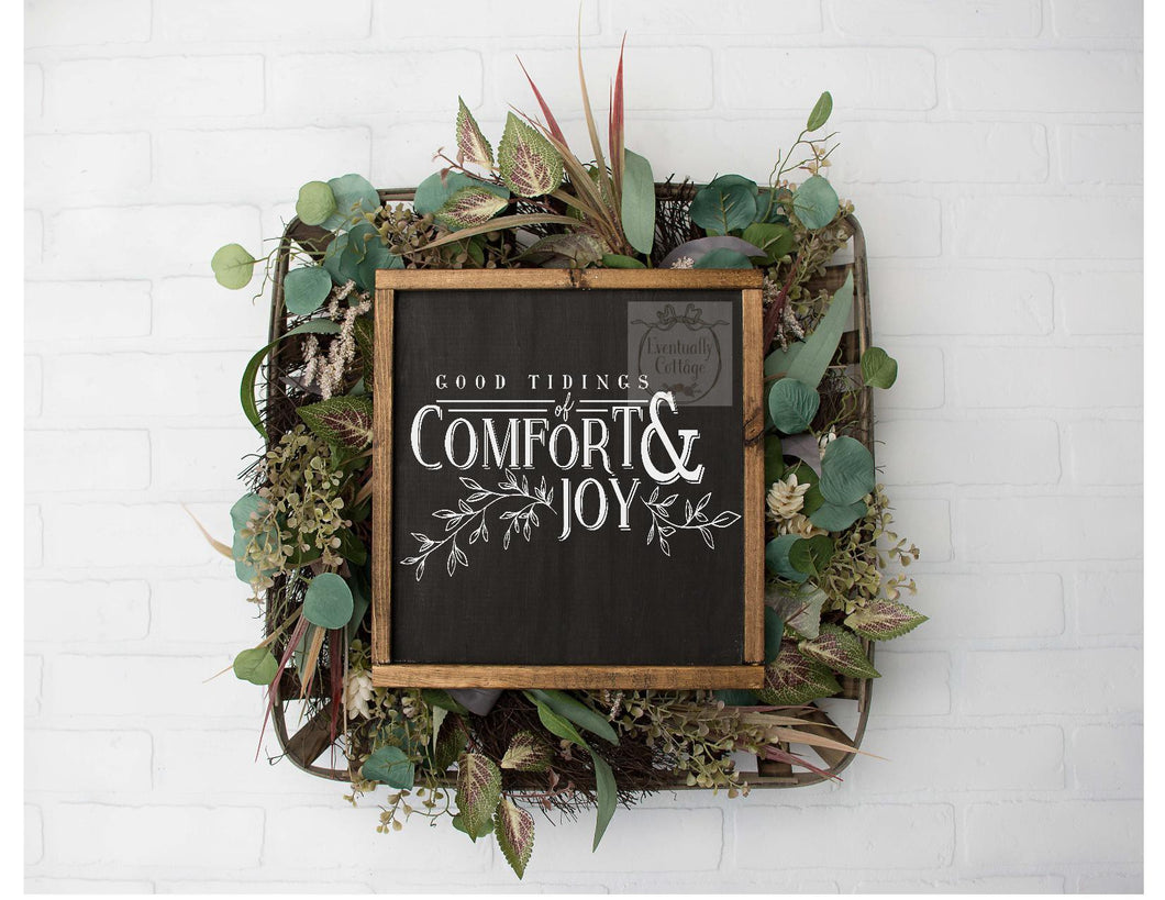 Framed Sign - Good Tidings of Comfort and Joy