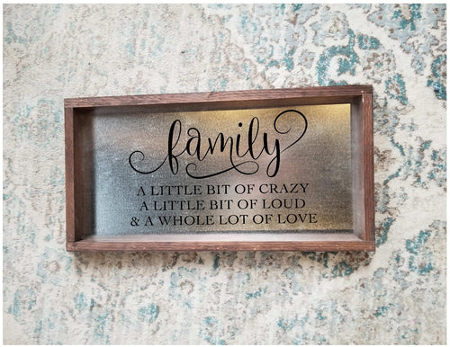 Handpainted Stainless Steel Family Sign