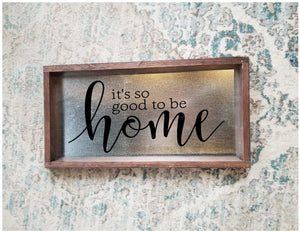 Handpainted Stainless Steel Home Sign