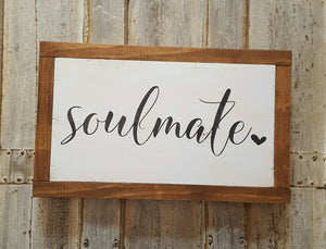 Framed Wood Sign - Soulmate
