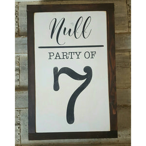 Framed Wood Sign - Party of Sign