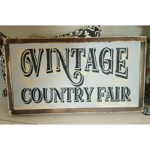 Framed Wood Sign - Vintage Country Fair